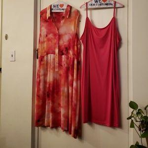 Newly 2 PC Elegant Dress Multi colored 24W